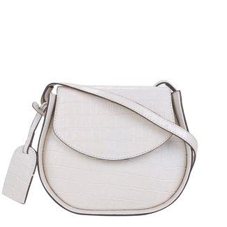 Bolsa Couro Shoestock Croco Round Bag Feminina