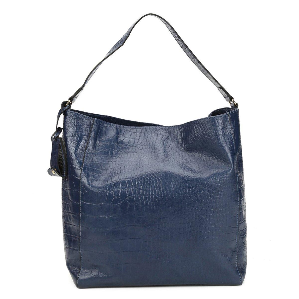 26d2d9230 Bolsa Couro Shoestock Hobo Alça Dupla Croco Feminina - Compre Agora ...