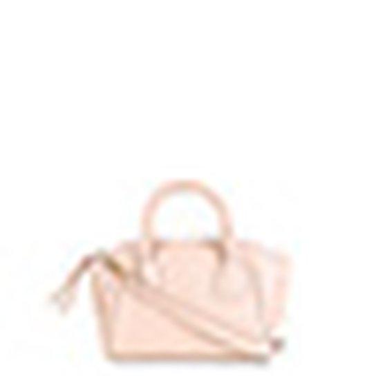 Bolsa Couro Shoestock Mini Bag Clássica Tiracolo Feminina - Nude
