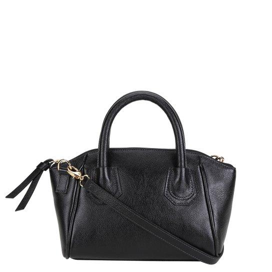 Bolsa Couro Shoestock Mini Bag Clássica Tiracolo Feminina - Preto
