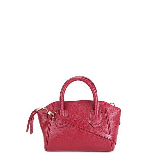 Bolsa Couro Shoestock Mini Bag Clássica Tiracolo Feminina - Vermelho