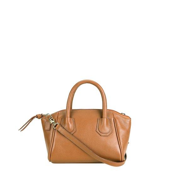Bolsa Couro Shoestock Mini Bag Clássica Tiracolo Feminina - Caramelo