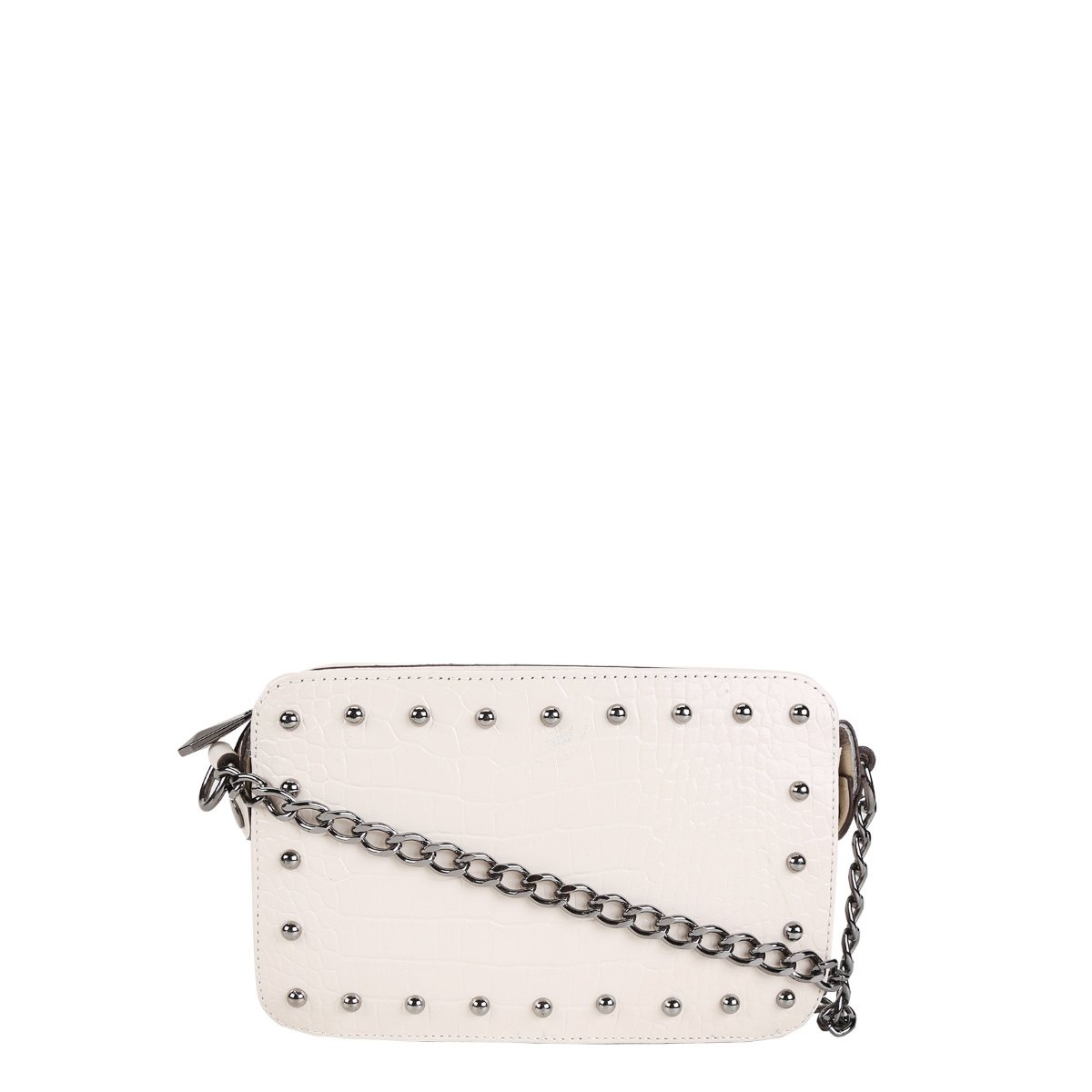 bfa19671086 Bolsa Couro Shoestock Mini Bag Tachas Feminina | Shoestock