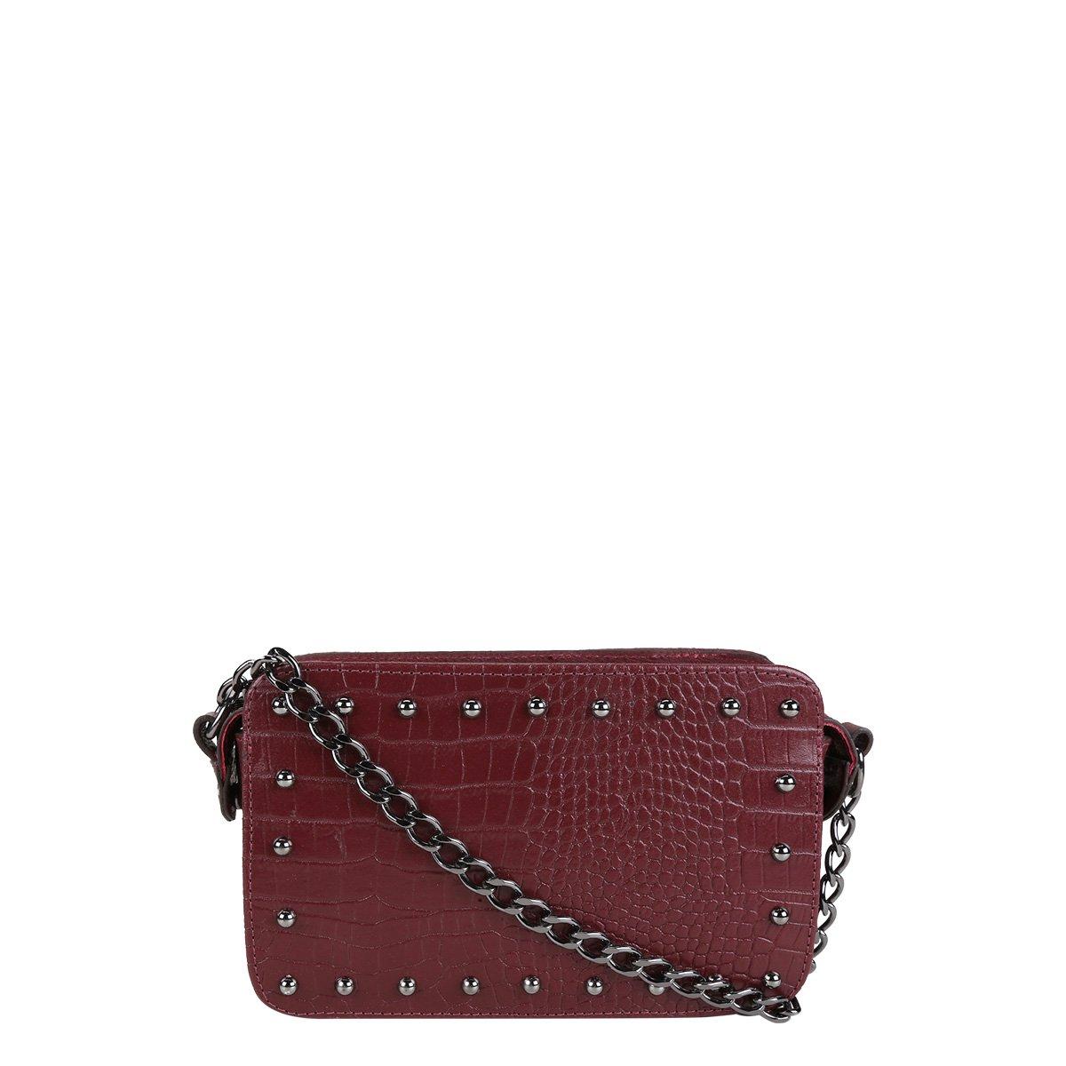 d908ec808 Bolsa Couro Shoestock Mini Bag Tachas Feminina | Shoestock