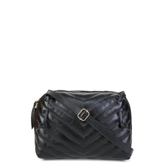 Bolsa Couro Shoestock Mini Bag Transversal Matelassê Feminina