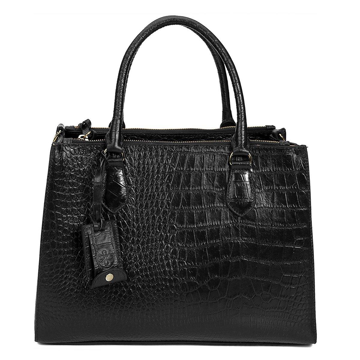 8ea71cd36 Bolsa Couro Shoestock Satchel Croco Feminina - Compre Agora