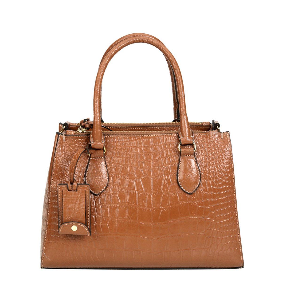 07adcc272b Bolsa Couro Shoestock Satchel Croco Feminina - Compre Agora