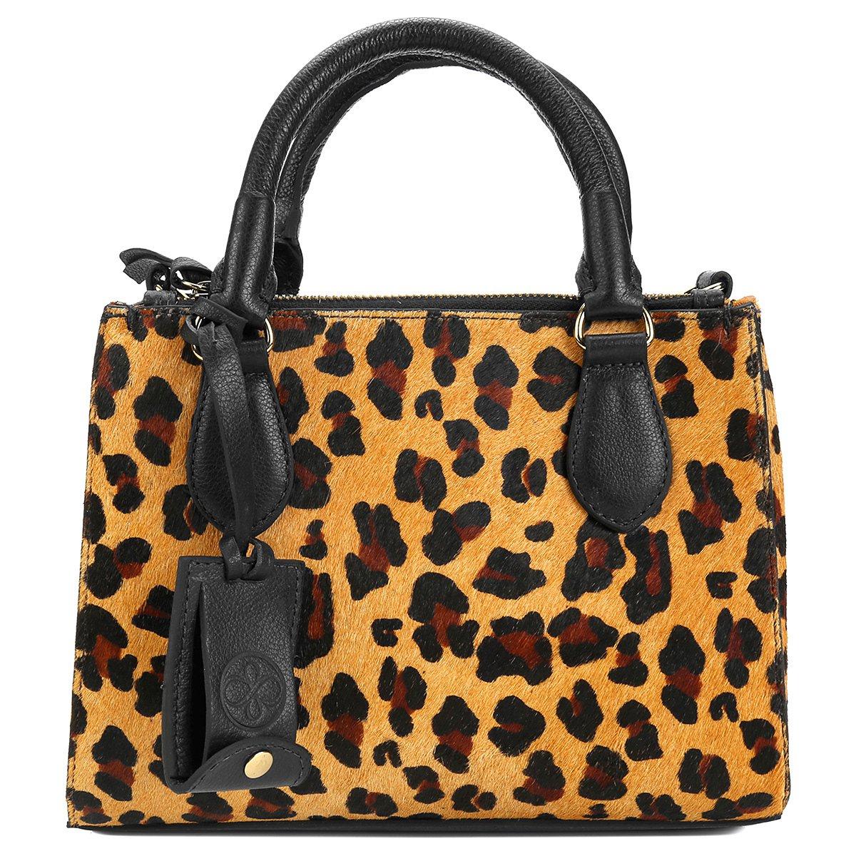 Bolsa De Couro Richards : Bolsa couro shoestock satchel divis?rias feminina on?a