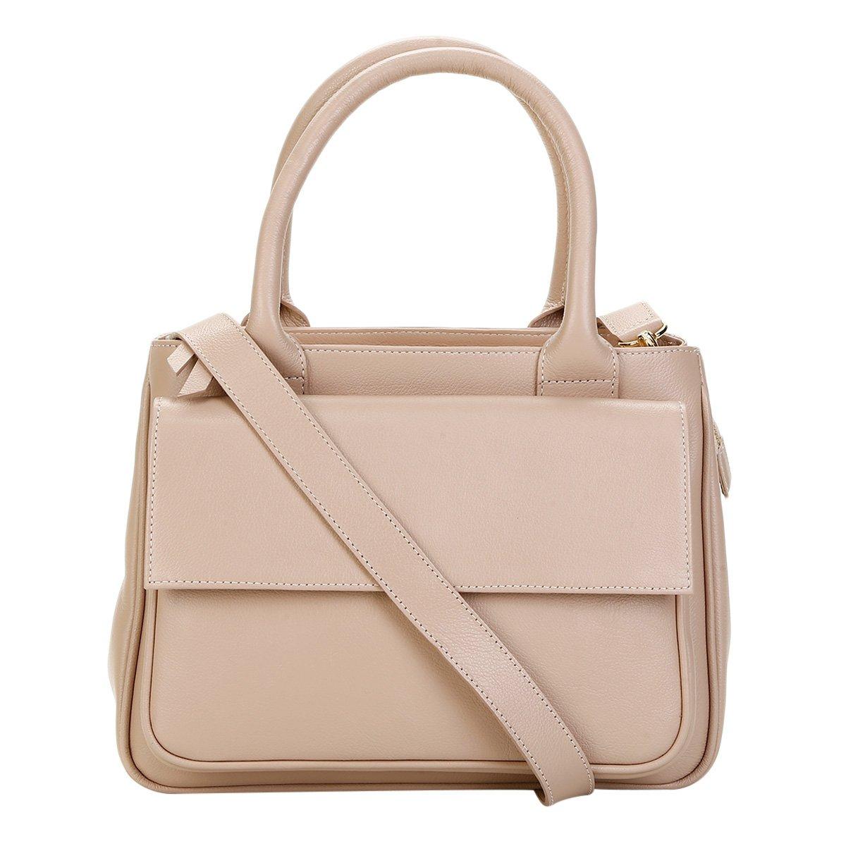 f633942d5 Bolsa Couro Shoestock Satchel Transversal Feminina - Bege - Compre Agora |  Shoestock