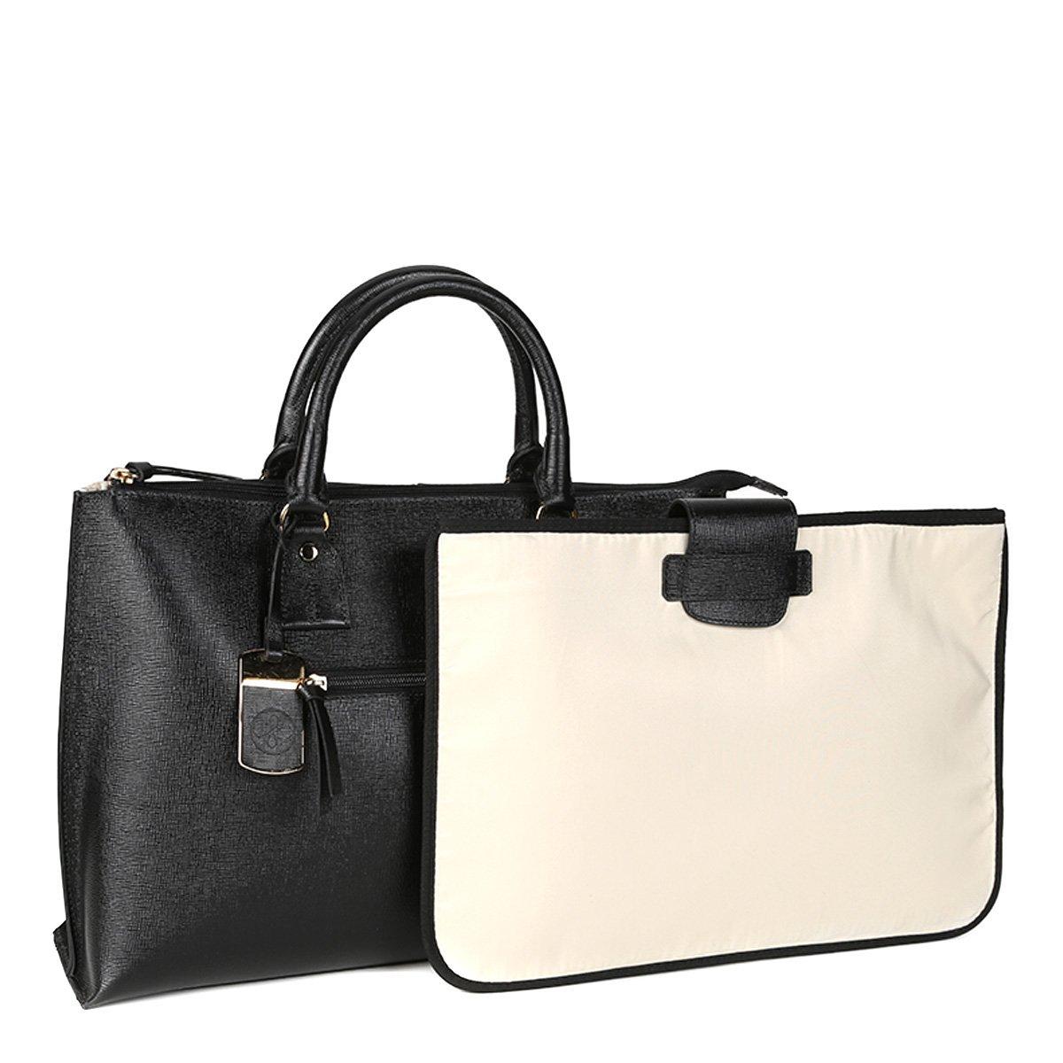 Bolsa Executiva Feminina Couro : Bolsa couro shoestock per executiva feminina preto