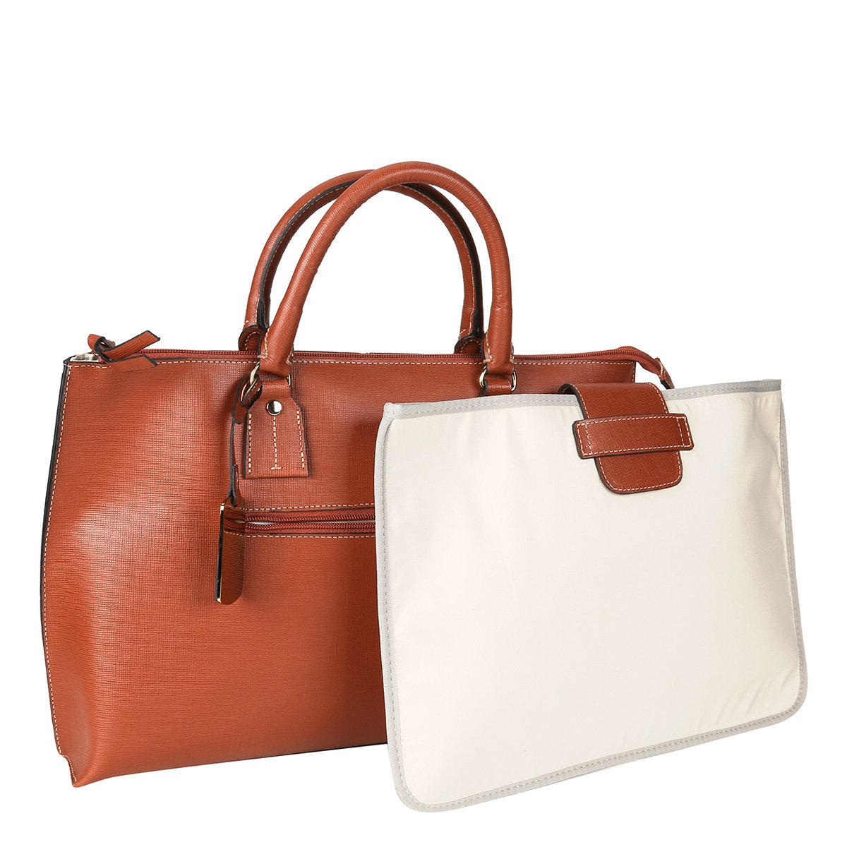 Bolsa Executiva Feminina Couro : Bolsa couro shoestock per executiva feminina caramelo