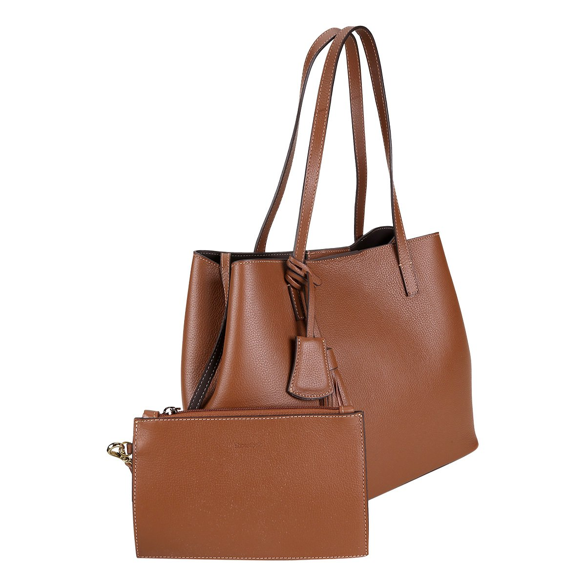 f33a7c1639 Bolsa Couro Shoestock Shopper Feminina - Compre Agora