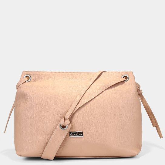 Bolsa Couro Shoestock Shoulder Bag Feminina - Nude