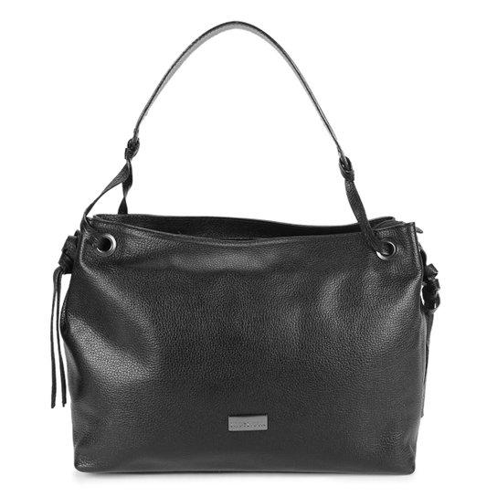 Bolsa Couro Shoestock Shoulder Bag Feminina - Preto