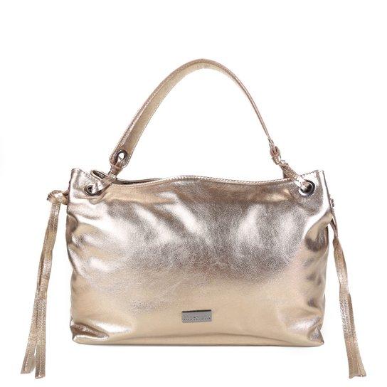 Bolsa Couro Shoestock Shoulder Bag Feminina - Chumbo