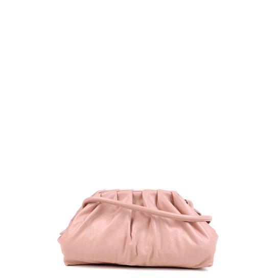 Bolsa Couro Shoestock Slouchy Bag Feminina - Nude