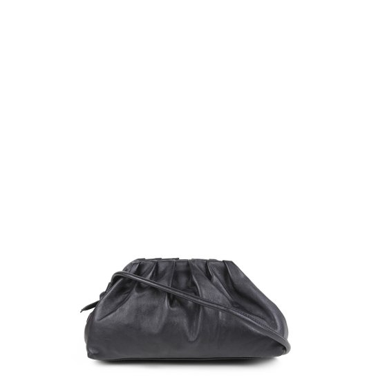 Bolsa Couro Shoestock Slouchy Bag Feminina - Preto