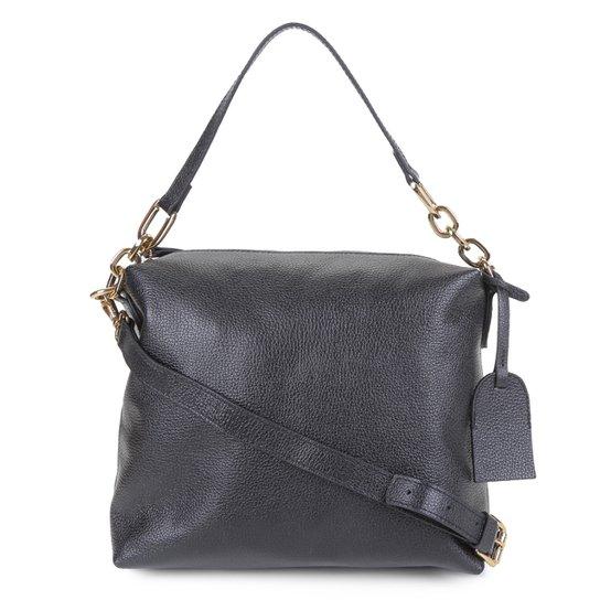 Bolsa Couro Shoestock Soft Bag Corrente Feminina - Preto
