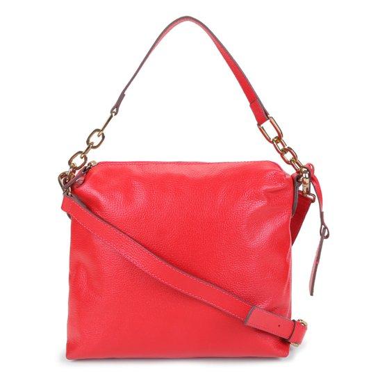Bolsa Couro Shoestock Soft Bag Corrente Feminina - Vermelho