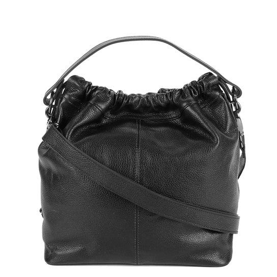 Bolsa Couro Shoestock Soft Feminina - Preto