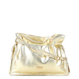 Bolsa Couro Shoestock Soft Metalizada Feminina