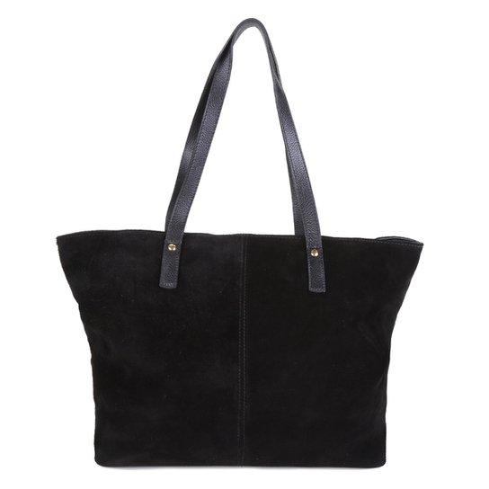 Bolsa Couro Shoestock Soft Shopper Feminina - Preto