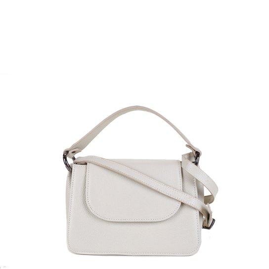 Bolsa Couro Shoestock Tiracolo Feminina - Off White