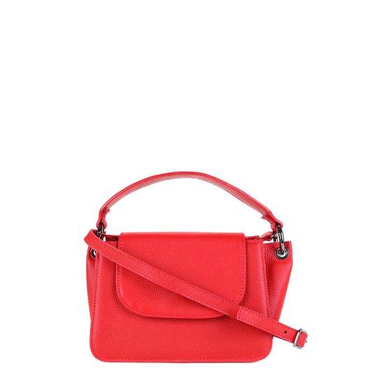 Bolsa Couro Shoestock Tiracolo Feminina - Vermelho