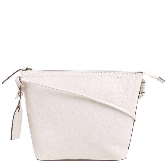 Bolsa Couro Shoestock Tote Shopper Transversal Mari Feminina - Off White