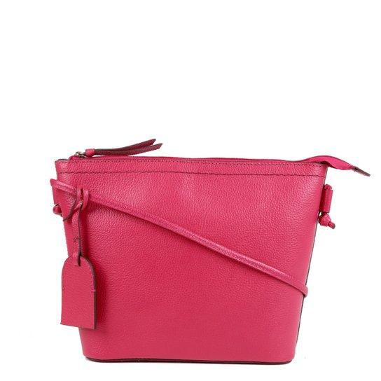 Bolsa Couro Shoestock Tote Shopper Transversal Mari Feminina - Pink