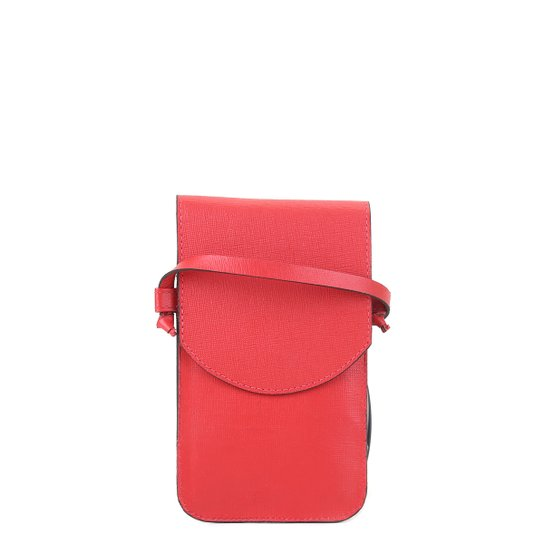 Bolsa Couro Shoestock Touch Screen Feminina - Vermelho
