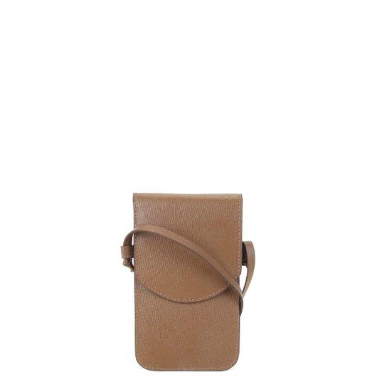 Bolsa Couro Shoestock Touch Screen Feminina - Caramelo
