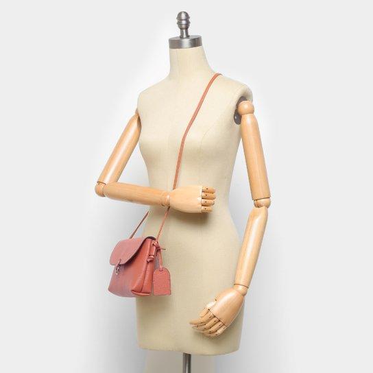 Bolsa Couro Shoestock Transversal Ingrid Feminina - Caramelo
