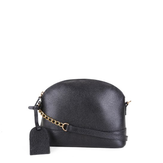 Bolsa Couro Shoestock Transversal Meia Lua Feminina - Preto