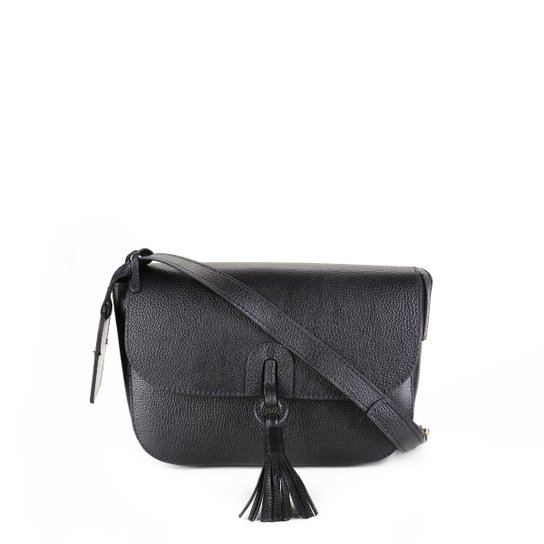 Bolsa Couro Shoestock Transversal Tassel Feminina - Preto