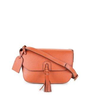 Bolsa Couro Shoestock Transversal Tassel Feminina
