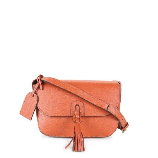 Bolsa Couro Shoestock Transversal Tassel Feminina - Caramelo