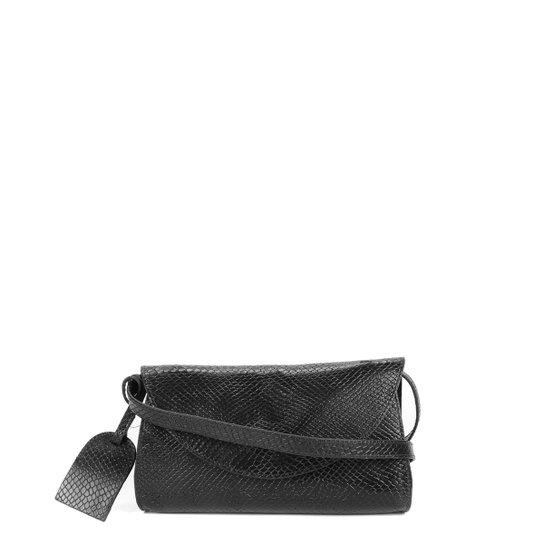 Bolsa Pochete Couro Shoestock Feminina - Preto