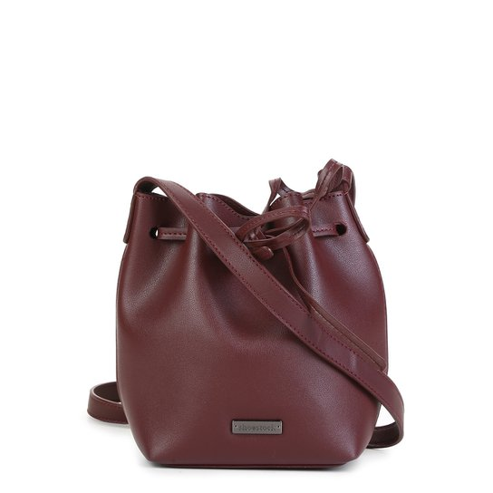 Bolsa Shoestock Bucket Feminina - Vinho