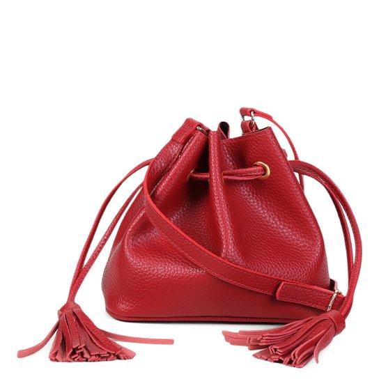 Bolsa Shoestock Bucket Lisa Feminina - Vermelho