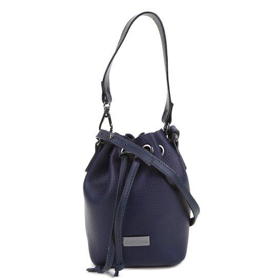 Bolsa Shoestock Bucket Mini Feminina - Marinho
