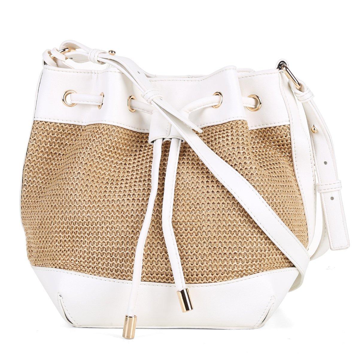 6dbbe2c11 Bolsa Shoestock Bucket Palha Feminina | Shoestock