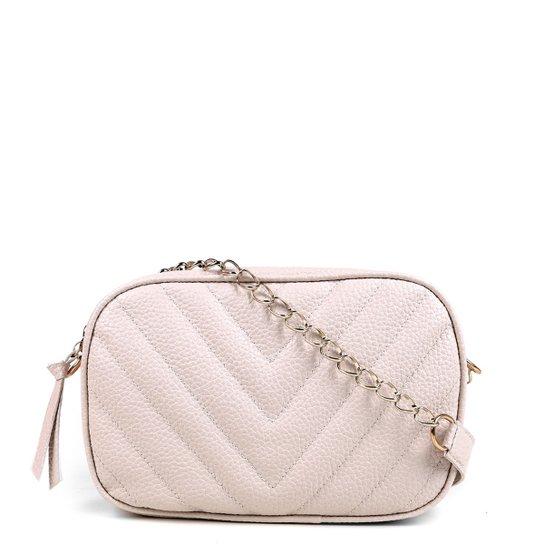 Bolsa Shoestock Crossbody Box Matelassê Feminina - Off White