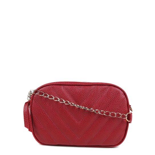 Bolsa Shoestock Crossbody Box Matelassê Feminina - Vermelho