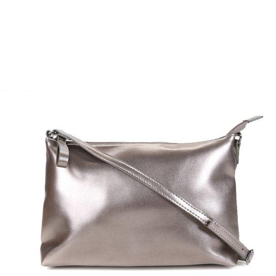 Bolsa Shoestock Metalizada Transversal Feminina - Prata