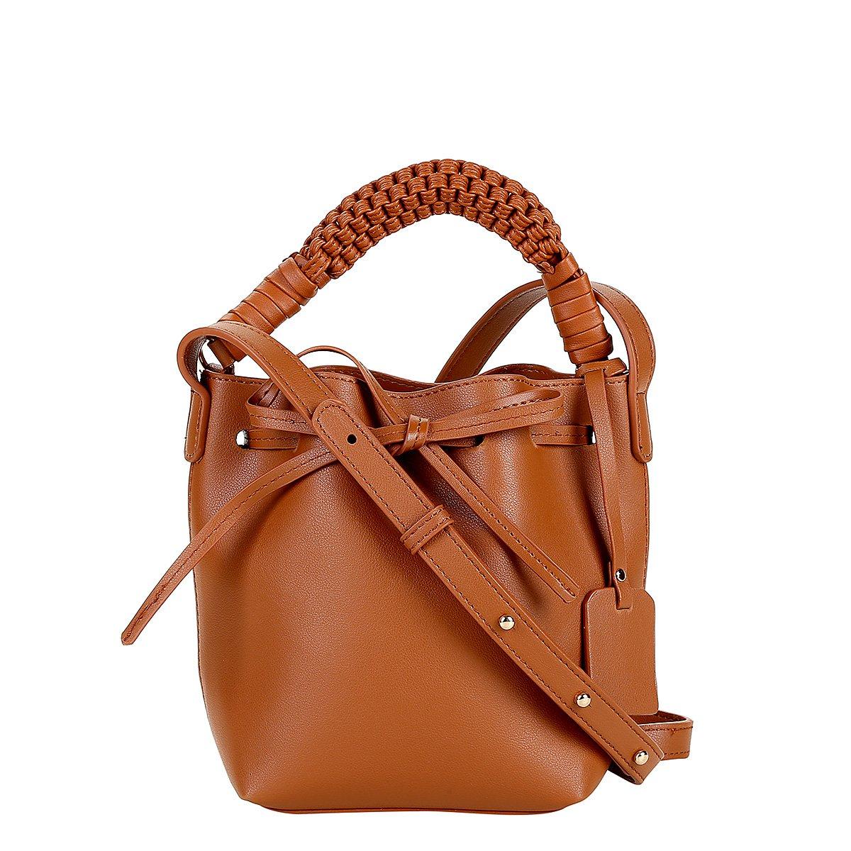 Bolsa Shoestock Mini Bag Bucket Handmade Feminina - Caramelo - Compre Agora   ac822e6175e