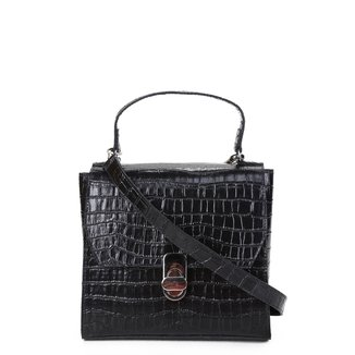 Bolsa Shoestock Mini Bag Satchel Croco Feminina