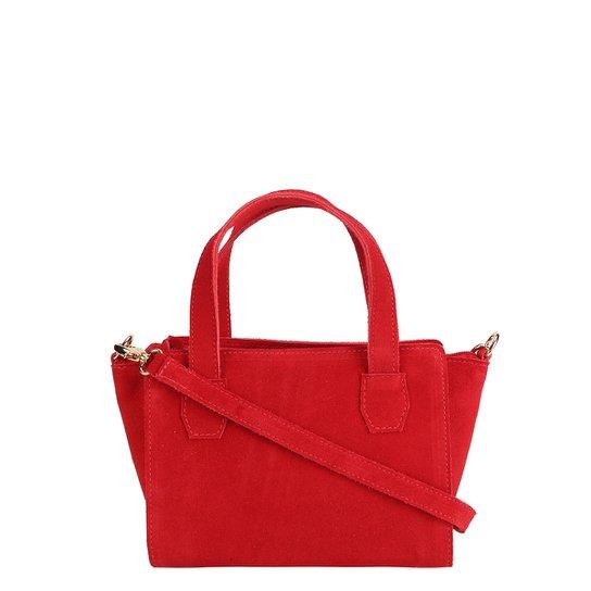 Bolsa Shoestock Mini Bag Tiracolo Camurça Feminina - Vermelho