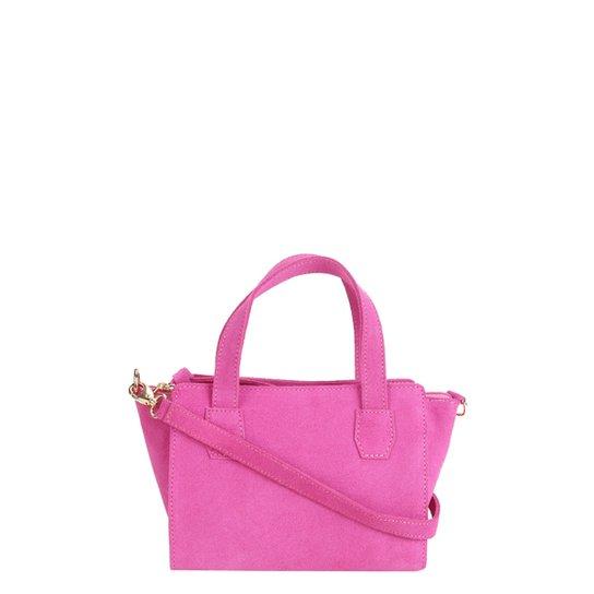 Bolsa Shoestock Mini Bag Tiracolo Camurça Feminina - Pink