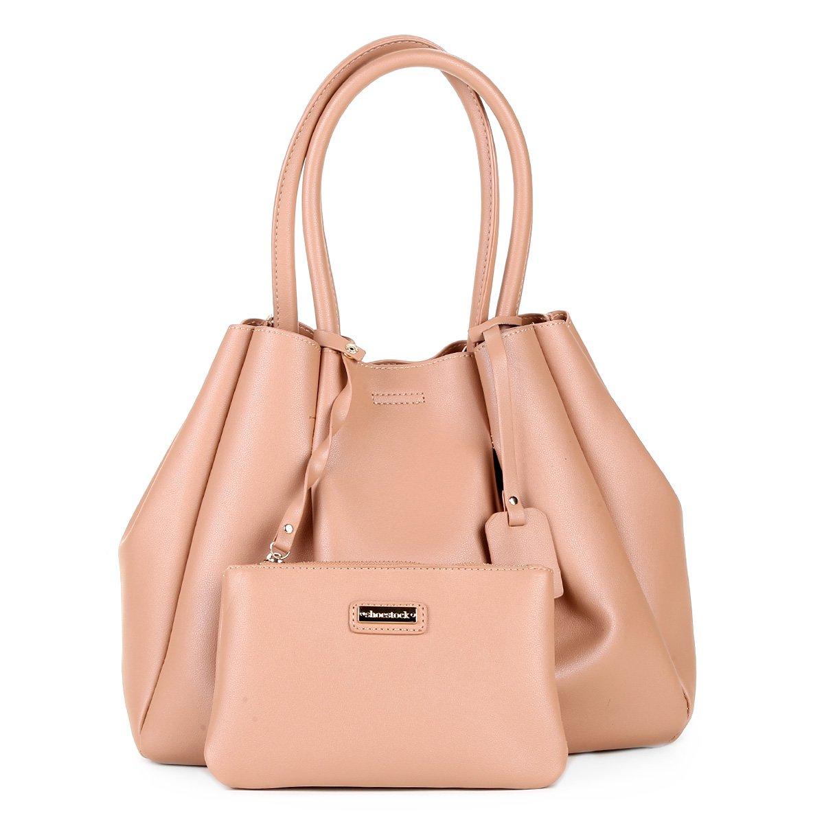 Bolsa Shoestock Shopper Drapeada Feminina - Caramelo. até 2x de R  62 4184963ea0d